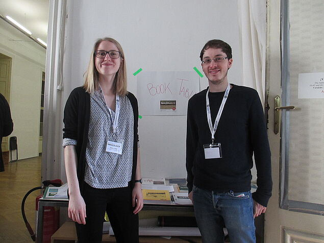 Elena and Lukas - two of our four highly motivated student assistants (Photo credit: Sophie Seidler)